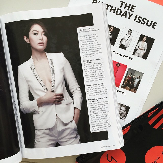 Jenny Tay Featured in July 2015 copy of Herworld