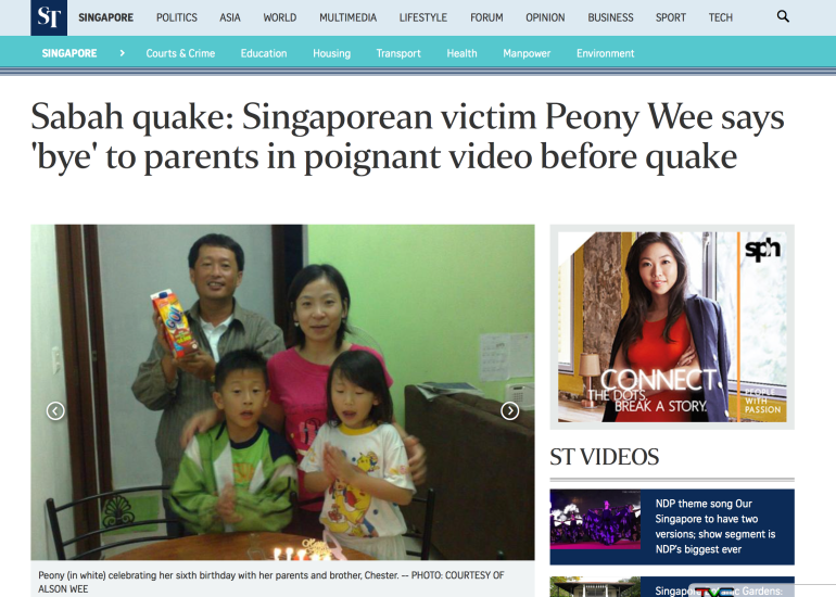 Taken from the Straits Times Website. Click for full article